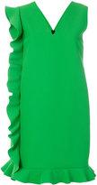 MSGM asymmetric frill trim shift dress