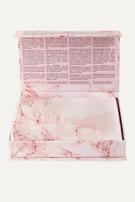 Slip Embroidered Marbled Silk Queen Pillowcase - Pink