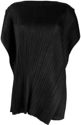 Pleats Please Issey Miyake Micro-Pleated Mini Dress