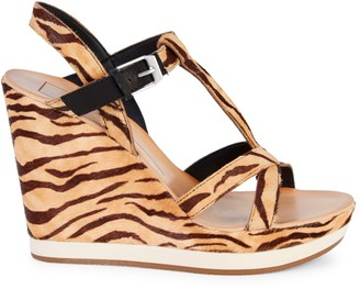 Dolce Vita Natiah Tiger Calf Hair Platform Sandals