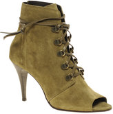 Peep Toe Lace Up Shoe Boot