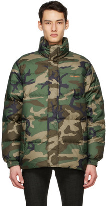 Carhartt Work In Progress Green Down Camo Danville Jacket