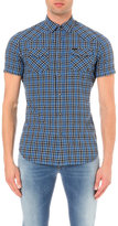 Diesel S-zule-short Plaid Cotton-blend Shirt
