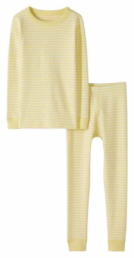 Moon and Back by Hanna Andersson Big Kids 2 Piece Long Sleeve Pajama Set
