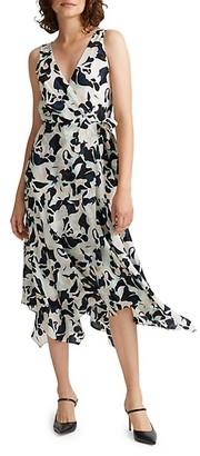 Club Monaco Printed Faux-Wrap Dress