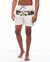 Tailor Vintage Tropical Stripe Swim Trunks