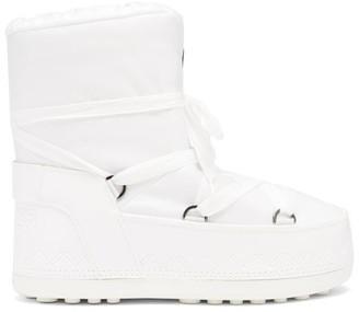 Bogner Trois Vallees Shell Snow Boots - White
