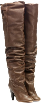 Isabel Marant Likita leather over-the-knee boots