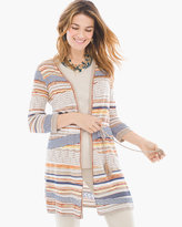 Chico's Striped Belted Cardigan