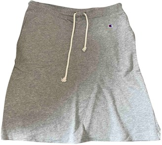 Champion Grey Cotton Skirt for Women
