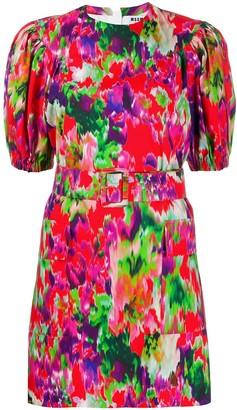 MSGM abstract-print mini-dress