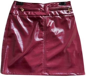 Elisabetta Franchi Burgundy Patent leather Skirt for Women