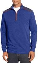 Bugatchi Men's Mercerized Cotton Quarter Zip Pullover