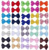 ICObuty 20 pair 2 inch Hair Bows for Girls Baby Toddlers Hair Clips Hair Bow Barrette