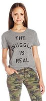 Goodie Two Sleeves Juniors the Snuggle IS Real Graphic Tee