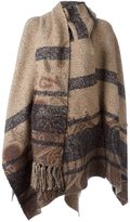 Etro striped cape - women - Silk/Cotton/Acrylic/Wool - One Size