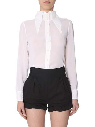 Saint Laurent oversize collar shirt