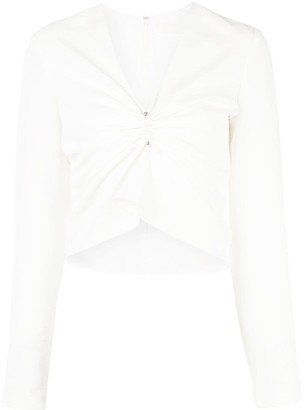 Dion Lee V-neck ruched blouse