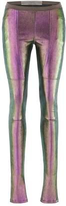 Rick Owens Leather Mix Leggings