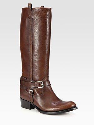 Ralph Lauren Isareen Leather Buckle Riding Boots
