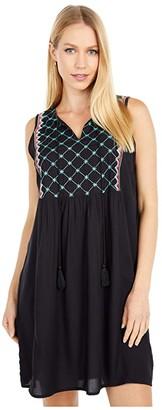 Rock and Roll Cowgirl Sleeveless Dress D5-5158 (Black) Women's Dress