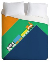 DENY Designs Vy La Train Duvet Cover