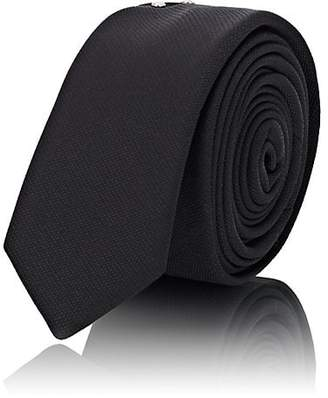 Saint Laurent Men's Studded Silk Necktie - Black