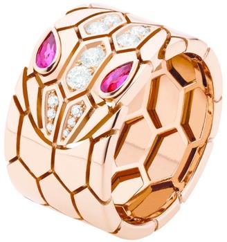 Bvlgari Rose Gold and Diamond Serpenti Seduttori Ring