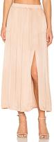 Raquel Allegra Ribbon Midi Skirt in Brown. - size 1 / S (also in )