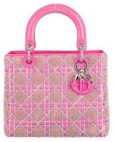 Christian Dior Tricolor Medium Lady Bag