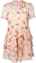 RED Valentino floral print sheer dress - women - Silk/Polyester/Metallic Fibre - 40