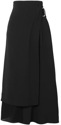 Victoria Beckham Pleated Crepe And Cady Wrap Skirt