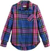 So Girls 7-16 SO Button-Down Metallic Plaid Shirt