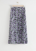 Thumbnail for your product : And other stories Floral Button Up Midi Skirt