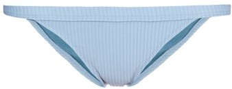 Made by Dawn Traveler Ribbed Bikini Briefs - Womens - Light Blue
