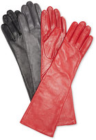 Charter Club Long Leather Tech Gloves, Created for Macy's