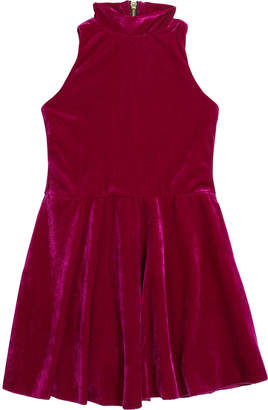 Zoe Girl's Nicole Velvet Halter-Neck Swing Dress, Size 7-16