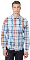 Lee Blue Western Checked Shirt