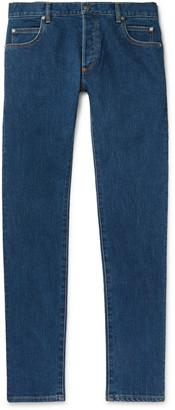 Balmain Slim-Fit Logo-Embossed Denim Jeans