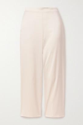 Max Mara Leisure Washed-satin Straight-leg Pants - Cream