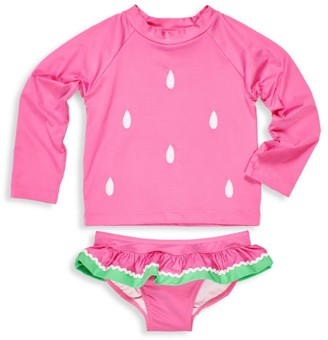 Florence Eiseman Little Girl's 2-Piece Watermelon Rashguard & Bottom Set