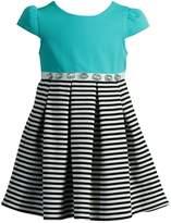 Dollie & Me Girls 4-6x Stripe Pleated Dress