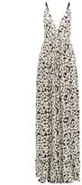 Proenza Schouler Splatter-print Crepe Maxi Dress - Womens - White Multi