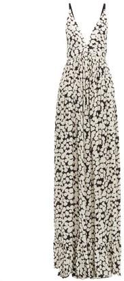 Proenza Schouler Splatter-print Crepe Maxi Dress - Womens - White Multi