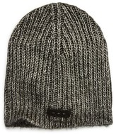 John Varvatos Slouchy Rib Knit Cap - Black