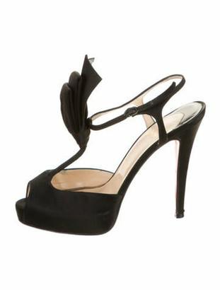 Christian Louboutin T-Strap Sandals Black