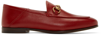 Gucci Red Brixton Loafers