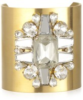 Charm & Chain Sandy Hyun Wide Gold Crystal Cuff
