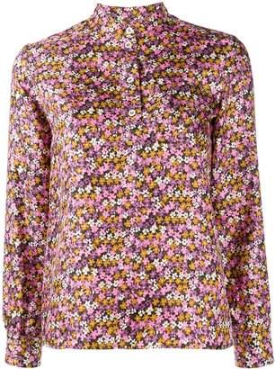 A.P.C. silk flower print shirt