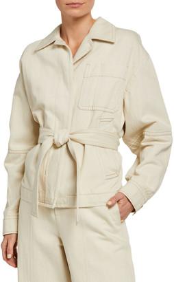 Vince Cotton-Blend Belted Utility Jacket